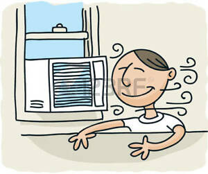 Keep your house cool  with an air conditioner!