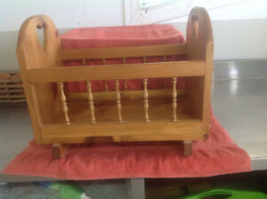 Solid Wood Mennonite made doll cradle