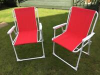 Pair of garden chairs as new condition