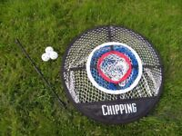 Practice golf chipping net with 3 training balls - (Reduced Asking Price)