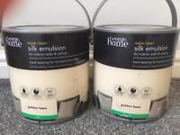 2 tins of brand new sealed cream paint