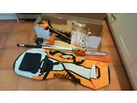 STIHL COMBI ENGINE (NEW) WITH BAG, PRUNER AND STRIMMER
