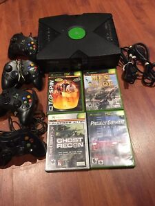 Original Xbox system 4 controllers 4 game