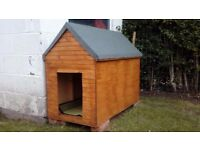 Handcrafted wooden dog kennel for medium size dog