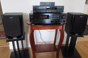 Complete Stereo System Receiver Amp CD Player Speakers Remote