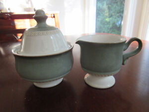 Denby - Venice Green Covered sugar bowl and creamer