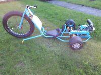 For sale, custom built petrol drift trike.