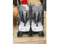 Double Chicco echo twin stroller