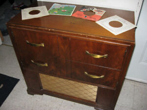 Vtg Mid Century Rca Victor A-55 Dual Record Player Phonograph Am