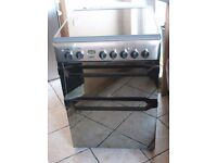6 MONTHS WARRANTY Indesit AA energy rated, double oven electric cooker FREE DELIVERY