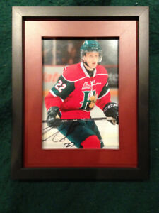 Nathan MacKinnon Autographed Mooseheads Photo Framed
