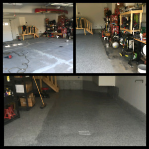 Want to do your garage floor but no room to move all your stuff?
