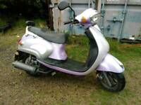 2008 lifan 125cc scooter (12 months mot ) (only done 3000 miles from new )