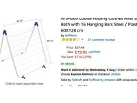 Folding Clothes Airer Dryer with 16 hanging bars steel