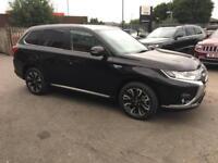 2016 Mitsubishi Outlander 2.0 PHEV GX4h 5dr Auto Petrol/PlugIn Elec Hybrid black