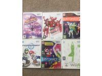 Nintendo Wii, Wii Fit Board & 6 Games