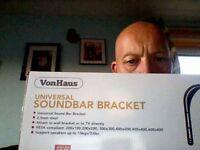 von haus universal sound bar bracket un-used