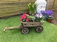 Wooden Trailer Planter - 55cm