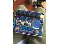 Ehx cathedral reverb pedal.