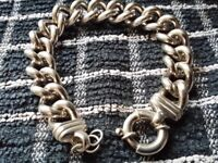 Sterling silver 3 ounce mens bracelet. Just been cleaned and jump rings added