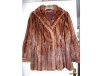Vintage mink jacket, hat, cravat etc.