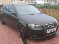 Audi a3 210bhp black edition