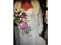 Wedding dress size 10 / 12 ivory