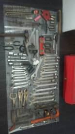 Tool box and metalworkers tools