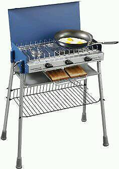 Camping cooker and grill, with legsin Fishponds, BristolGumtree - Camping Chef Plus camping cooker & standA classic camp cooker with legs. Perfect for camping breaks/holidays. Comes complete with a handy carry bag that is ideal for transportation and storage.Product Features (from website) Multi functional camping...