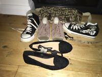 Women's Girls Shoes And Bag Bundle. Size 6 Brand New Shoes, Schoolbag Satchel And New Belt