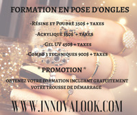FORMATION RECONNUE EN POSE D'ONGLES 350$