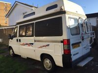 Peugeot Autosleeper - registered in 2000, 3 fitted seat belts, will have 12 months MOT