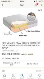 Small double(4ft) memory foam bonded firm mattress