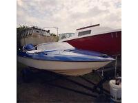 Boat fletcher speedboat 85hp