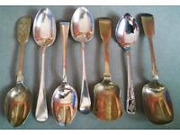 job lot of antique spoons