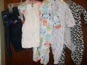 Boys 0-3 / 3 months plus few larger sized outfits $15 OBO