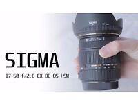Sigma 17-50mm f/2.8 EX DC OS HSM (Nikon Fit) Lens
