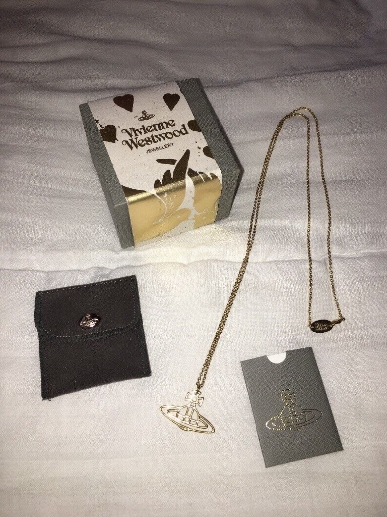 Genuine vivienne Westwood necklace with box and dust pouch