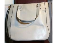 **SOLD NOW SORRY** Large Tote Handbag-Cream - ATMOSPHERE , Summer Holiday