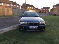 BMW 3 Series 2.0 318Ci SE 2dr 2002 (52 reg), Coupe 74,000 miles Automatic 2000cc Petrol+FSH+Year MOT