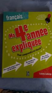 Cahier d'exercices  français 4 ième année