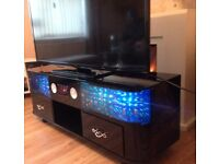 New TV stand Cabinet with Sound System built-in High Gloss finish and 3D LED, in black Color