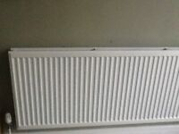 White STELARD double panel radiator