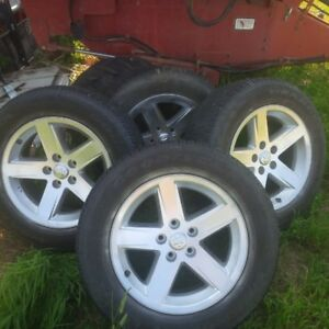 Dodge Ram 1500 rims 275/60R20 Goodyear SR-A Tires