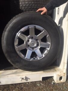 Brand-new Toyota rims and tires