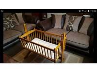Pine rocking crib