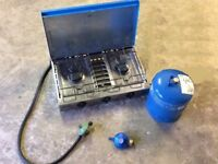 Grillogaz Camping cooker plus 2 regulators and gas bottle