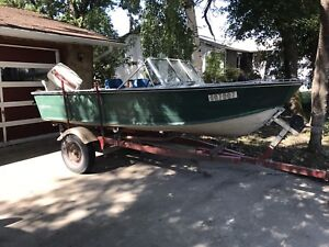 Price reduced...14.5 ft aluminum boat for sale
