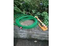 Garden sprinkler with hose
