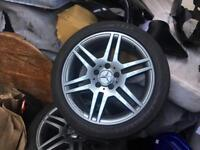 """2010 Mercedes c220 w204 amg sport 17"""" wheels and tyres fully refurbished"""